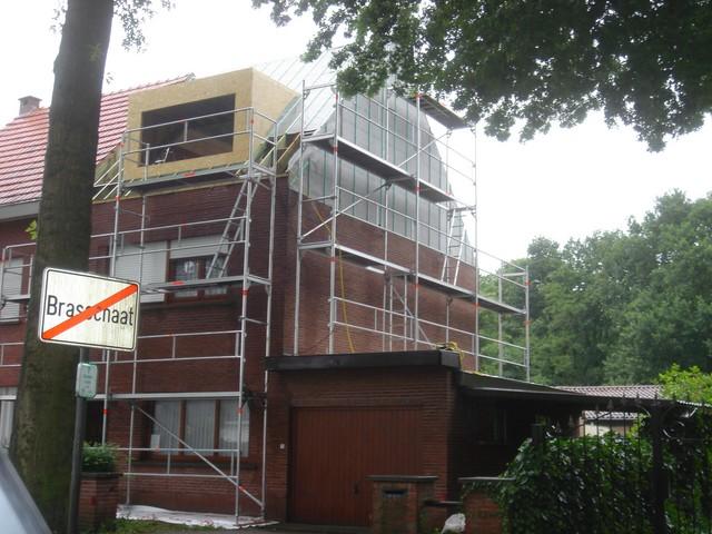 Omvorming plat dak naar hellend dak